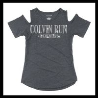 YT32 Girl's Cold Shoulder Tee Thumbnail